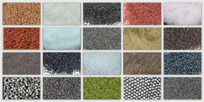 υλικά αμμοβολής αναλώσιμα - ανακυκλώσιμα